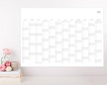 NEW* 2018 Year Calendar, Wall Calendar, Calendar Poster