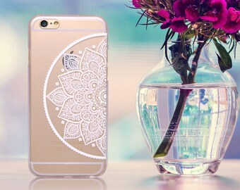 7b28d8cef8d Half Henna Mandala Paisley Flower Tribal Clear Hard Soft Gel TPU Cute Phone  Case Cover for iPhone 5 5S SE 6 6S 7 8 Plus