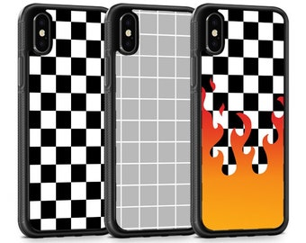 iphone 8 plus etsycheck iphone case checkered fire line grey kpop tumblr hipster iphone x iphone xs max iphone xr iphone 8 plus iphone 7 plus 6 6s 5 5s se