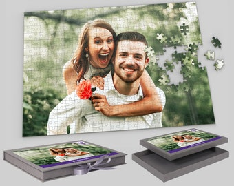 Personalised Jigsaw Puzzle 300 Piece A3 Adult Jigsaw 40cm x 30cm Custom Jigsaw Personalised Puzzle Photo Puzzle Present Gift For Him Her A4