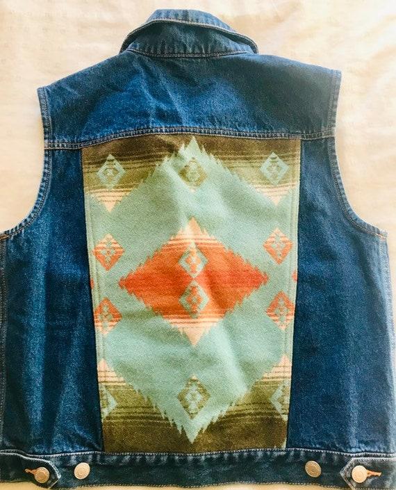 Pendleton Denim Vest>Women's Small, Native Style J