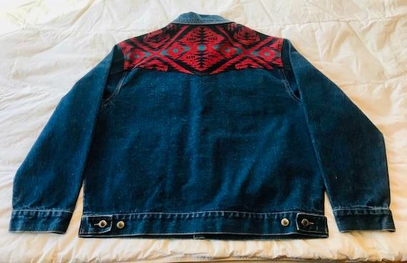Pendleton Denim Jacket>Large, Native Style Jacket,