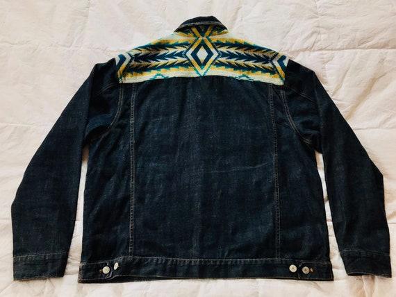 Pendleton Denim Jacket>Men's Large, Native Style J