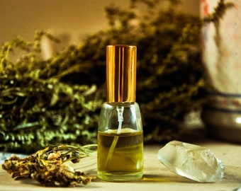 Erl-King Natural Perfume Spray • Enchanted • Botanical Perfume • Leather Forest Fragrance • Magic Perfume • Pagan Gift • GIft for Him Men