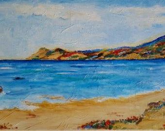 Seascape, beach, headland, rainbow bay, sea, sand,