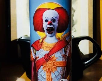It - Pennywise - Prayer Candle - Horror Movie - Horror Collector - Clown - Monster - We All Float -Religious Candle