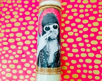 Kurt Cobain Prayer Candle   Kurt Cobain Candle   Nirvana Candle   Grunge Candle