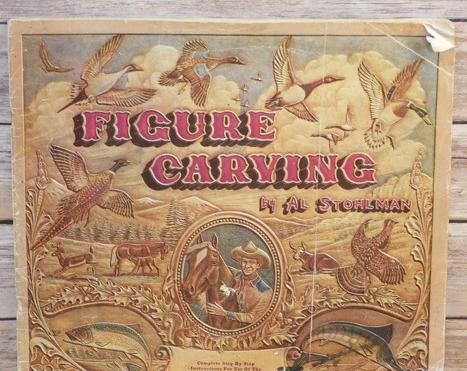Vintage 1953 Figure Carving Craft Book, Mid Century Al Stohlman Detailed Instructional Guide,Animal Belt Metal Leather Sculpture, Tool Art