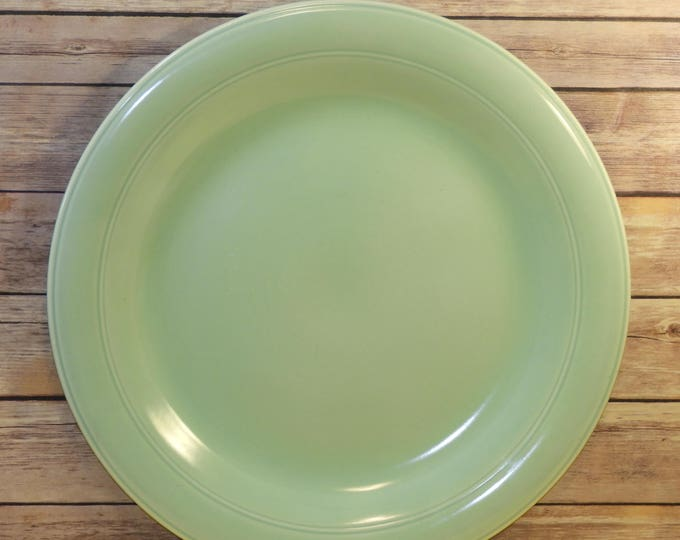 "Vintage Vernon Kilns Platter,Mid Century Modern Ceramic Plate,Authentic California Pottery,Seafoam Green Server, Large 16.5"" Decorative Tray"