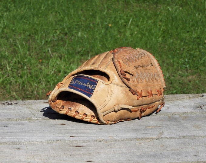 Vintage Baseball Glove, Spalding Japan 42 3361, Bobby Murcer Professional Model, Leather Sports Equipment, Ball Mit, Sports Collectibles