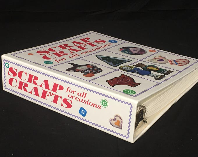Vintage Craft Book, Scrap Craft For All Occasions, 1991 White Red Craft Guide, Oxmoor House Sewing Instructions, Decorative Holiday Crafts