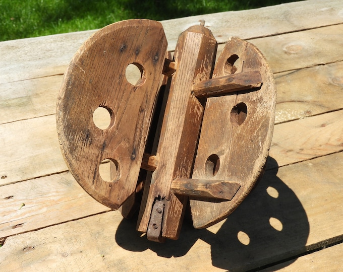 Antique Butter Churn Paddle, Vintage Butter Paddle, Decorative Country Light Fixture, Primitive Wooden Home Decor, Old Collectible Farm Tool