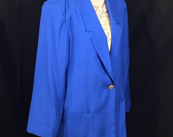 Vintage Sag Harbor Jacket, Sz 12 Women's Blue Blazer, Ladies Clothing, Womens Formalwear, Suit Coat, Cool Winter Jacket, Women's Dress Wear
