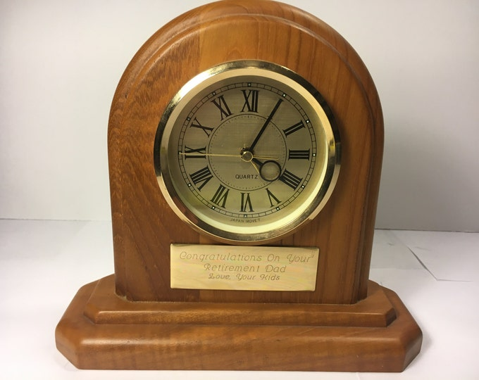 Vintage Quartz Clock, Brown Clock Japan Move't Retirement Gift For Dad
