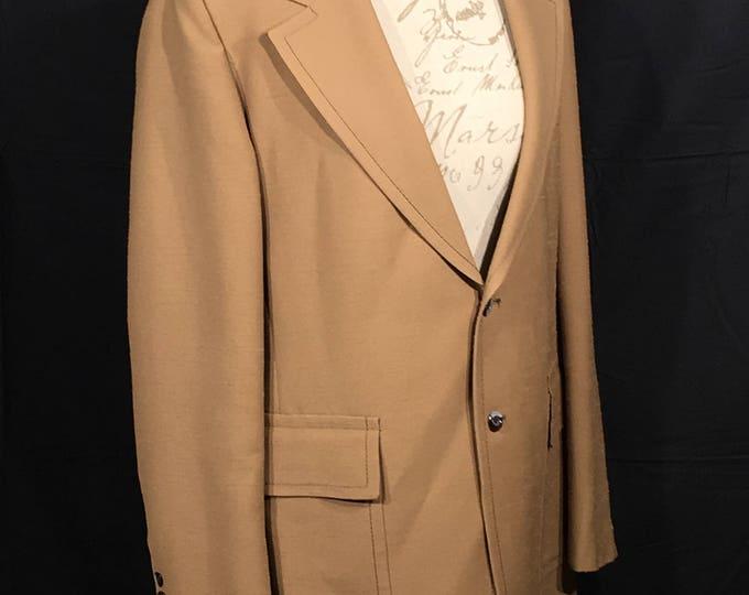 Vintage Brown Sport Coat, Cricketeer Jacket, Retro Paisley Inner Business Coat, Saturday Night Fever Blazer, Office Jacket, Mens Formal Wear