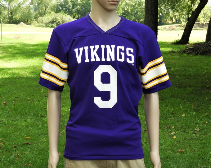 Vintage Vikings Jersey, Purple Rawlings Shirt, Adult Sports Apparel, Football Souvenir, NFL Officially Licensed Product, Retro Fashion