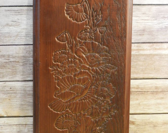 Vintage Sunflower Relief, Wall Art, Wooden Wall Art, Brown Embossed Wall Hanging Decor,Decorative Garden Picture, Wood Wall Carving,Wall Art