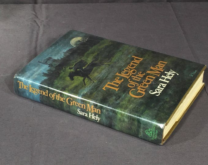 Vintage Fiction Book,The Legend of the Green Man,Sara Hely Book,First American Edition Text,Decorative Blue Green Reading Art,Rare Hardback