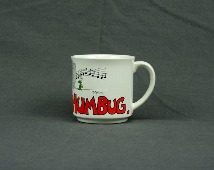 Vintage Curmudgeon Mug, Coffee Cup, Baa Humbug, Sandra Boynton, White Stoneware, Kitchen Decor, Home Decoration, Drinkware Gift