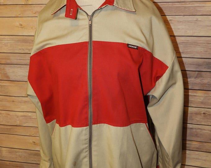 Vintage Jordache Red & Gold Jacket Coat Size 36, Lightweight Jordache Jacket, 65 Cotton and 35 Polyester Coat, Spring Fall Winter Wind Break