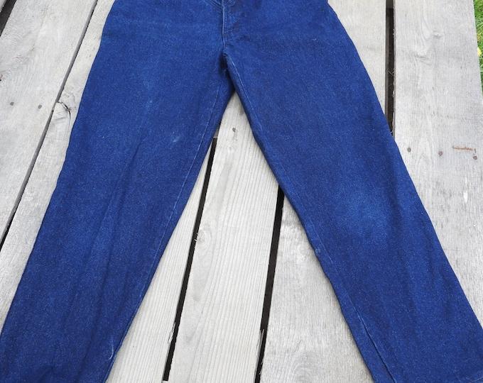 Vintage Blaze Mom Jeans, High Waist Mom Jean, 26 Waist 30 Inseam Chinos, Dark Blue Riding Jeans, Equestrian Fashion, Star & Stripes Clothing