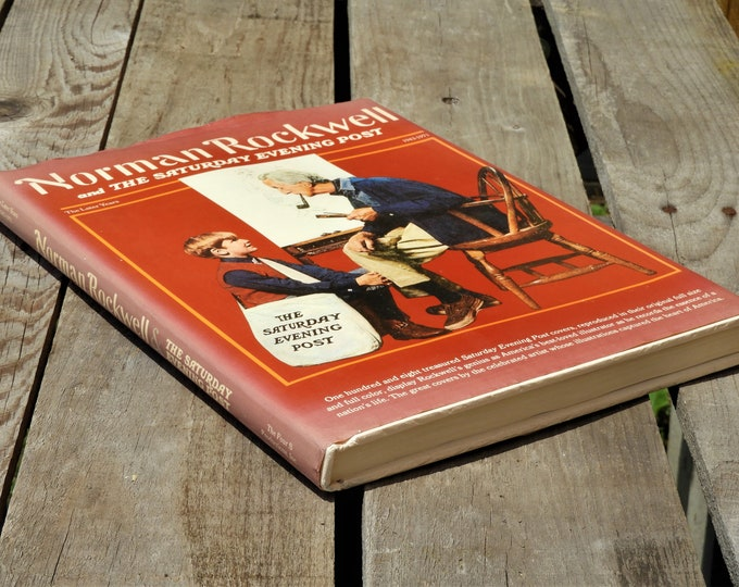 Vintage Norman Rockwell Book, 1976 The Saturday Evening Post, 1943-1971 The Later Years Hardback, First Edition Collectible, Red Cover Book