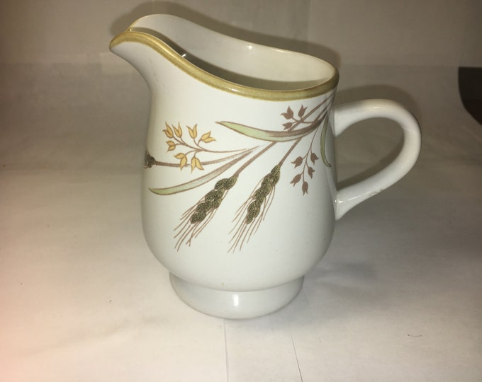 "Vintage Rare Winter Wheat 1800 Creamer Mug Cup, 4.5"" tall Creamer Cup White Winter Wheat Decor Collectible made in Japan"
