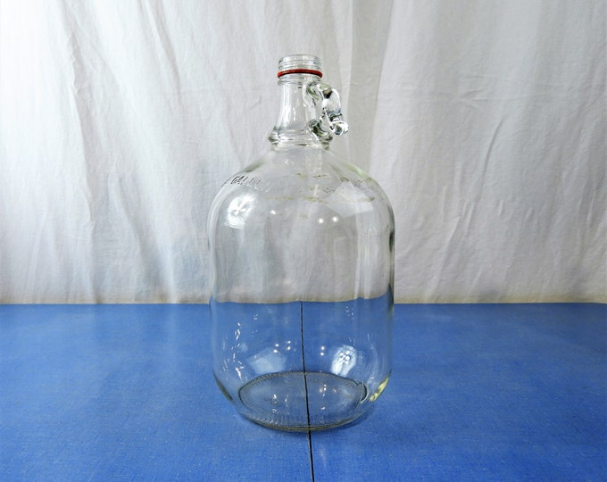 Vintage Coca Cola Jug, Ball 9-1 Gallon Bottle, Clear Glass Storage, Kitchen Decor, Coke Collectible, 751 128 E2, Fingerhole Top, Soda Syrup