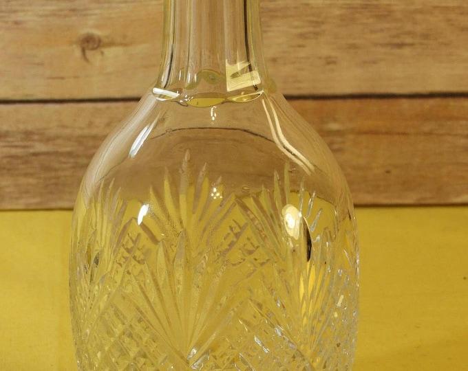 Vintage Port Decanter Carafe, Clear Cut Glass Wine Decanter Pineapple Design, Starburst Bottom Ribbed Carafe Bottle,Wide Body Large Decanter