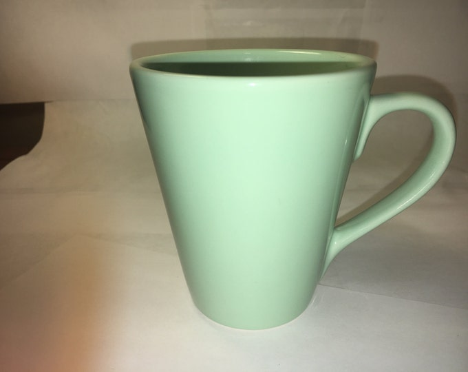 Vintage Coffee Mug, Retro Sea-Foam Green Coffee Mug,  Collectible Coffee Cup, Decorative Ceramic Mug