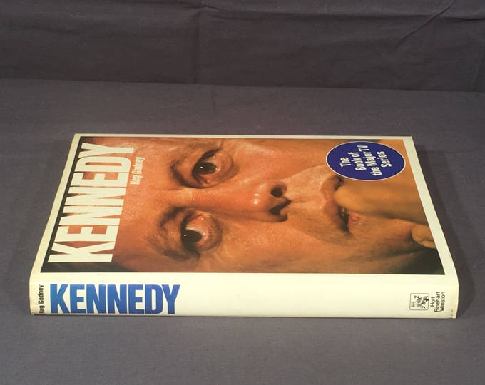 Vintage Kennedy Book, Kennedy by Reg Gadney Book, First American Edition Hardback, T V Series Book, Decorative Blue & White Book