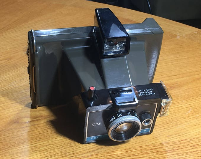 Vintage Polaroid Camera, Polaroid Colorpack II Land Camera, Decorative Photography Equipment, Gray & Blue Craft Imaging, Picture Camera