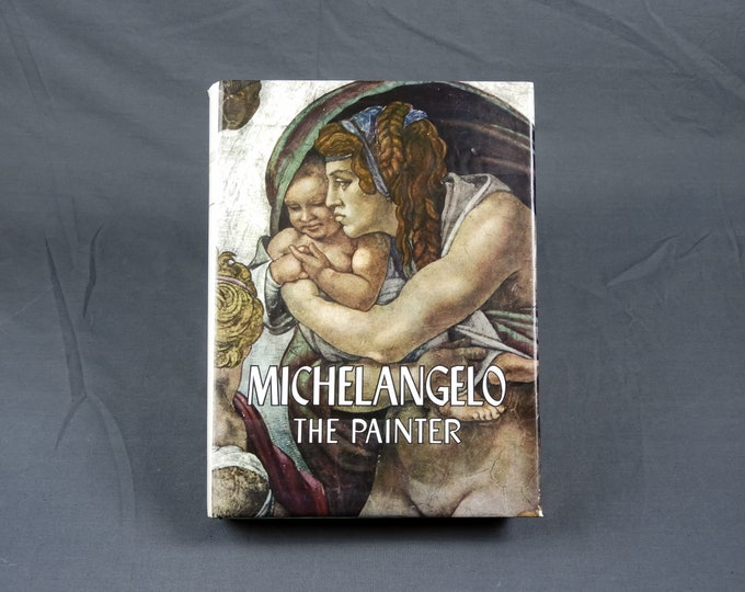 Vintage Michelangelo Book, The Painter, Hardback 1964 First Edition, Brown & Green, Home Decor, Sistine Chapel, Italian Renaissance Art