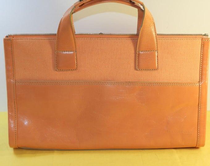 Vintage Kenneth Cole New York Bag, Genuine Leather Peach Top Handle Hand Bag, Retro Peach Top handle Handbag, Kenneth Cole Purse, New York
