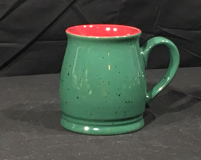 Vintage Colours Mug, Alexander Julian Stoneware Cup, Green & Berry Spotted Mug, Ceramic Arts Coffee Cup, Decorative  Dinnerware Cup