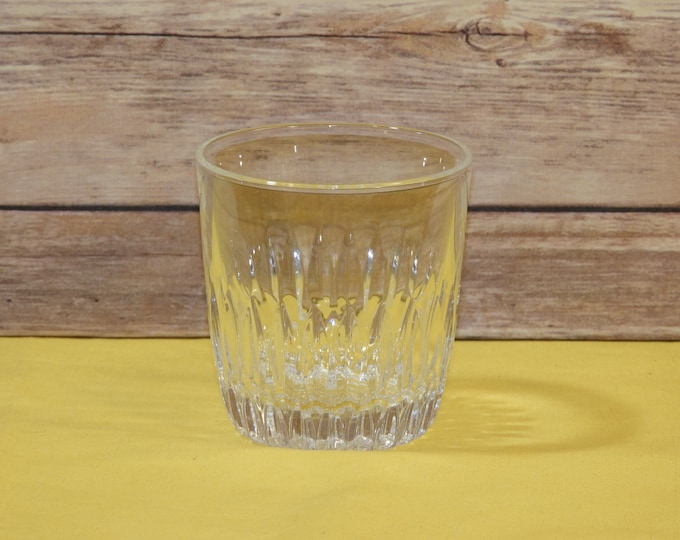 Vintage Winchester Style Glass, Heavy 8 oz Glass, Clear Ribbed Juice Glass, Round Tableware, Glass Restaurant Cup, Small Glass Replacement