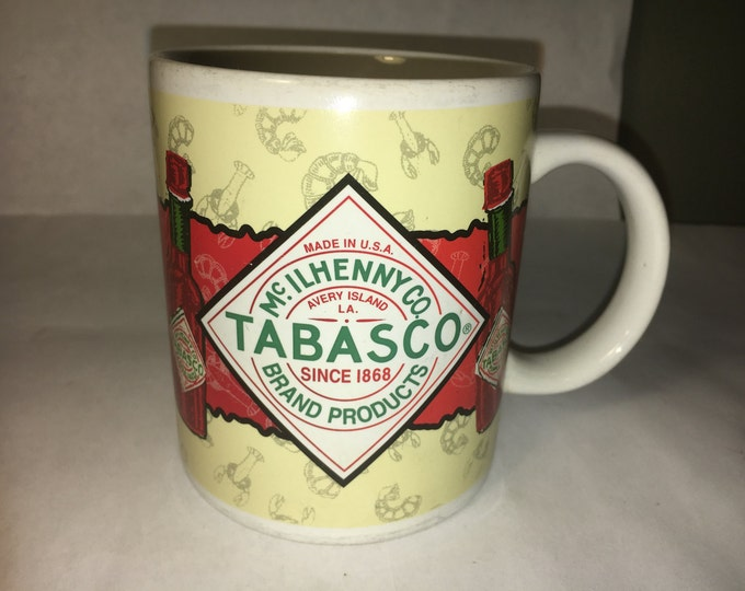 Vintage Coffee Mug, Advertising Mug, Hot Sauce Mug, Tabasco Collectors Mug, Ceramic Cup, Mug Made in China, McIIhenny Co.