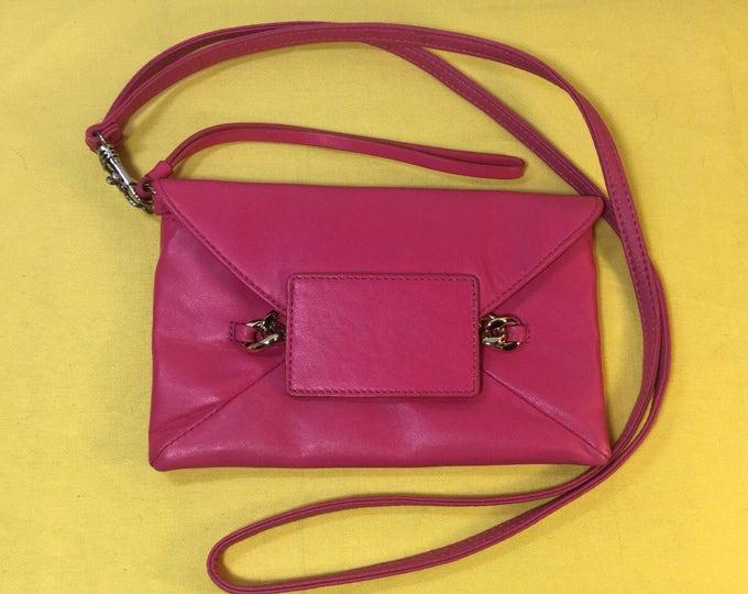Vintage Henri Bendel Pink Clutch Hand Bag Purse, Wristlet Henri Bendel Shoulder Bag, Wrist Holder Clutch Bag Purse, Pink and Blue