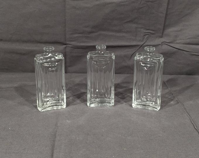 Little Craft Bottles (3), Small Glass Bottle, 100ml Glass Storage, 3.33 oz Clear Bottle, Decorative Craft Bottle, Collectible Light Holder