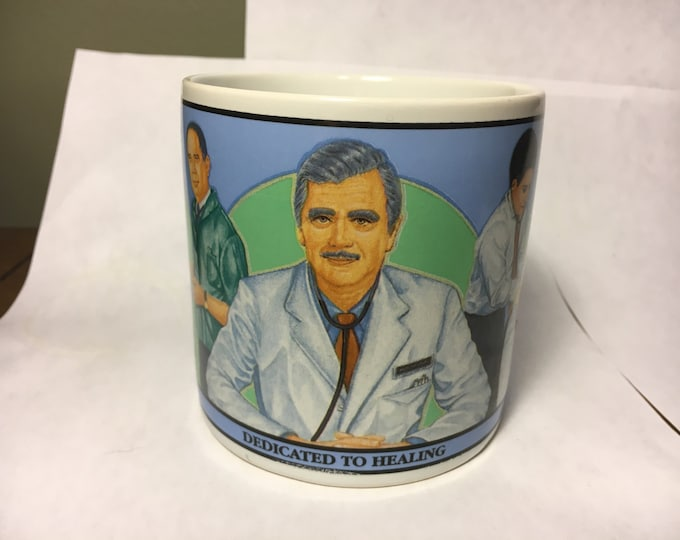 Vintage Rare Mug,Decorative Doctors Education Gift,The Professionals Cup,Doctors Dedicated to Healing, Ceramic Collectible Albert Price 1990
