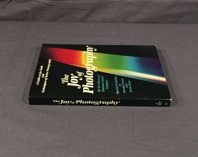Vintage Photography Book, The Joy of Photography Book, Decorative Black Picture Instructional, Eastman Kodak Edited Manual,5th Printing Book
