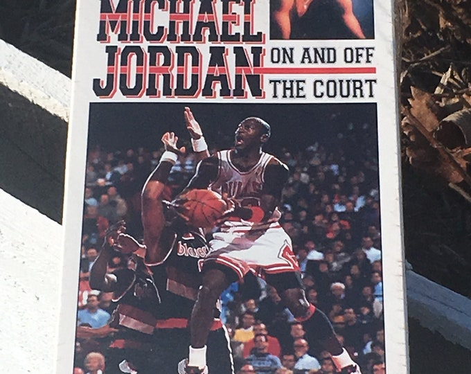 Vintage Michael Jordan VHS, Sports Illustrated Basketball Film, Unopened Seal Intact Sports Video, Michael Jordan On and Off The Court, NBA