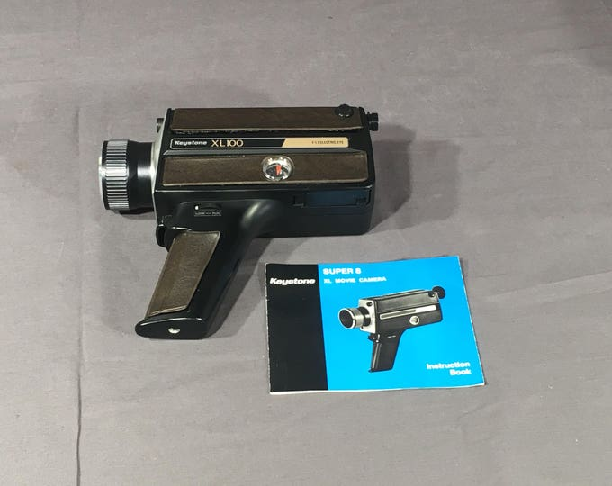 Vintage Super 8 Camera, Keystone Black Video Recorder, Retro XL 100 Berkey Movie Camera, Decorative Movie Equipment, Photography Collectible