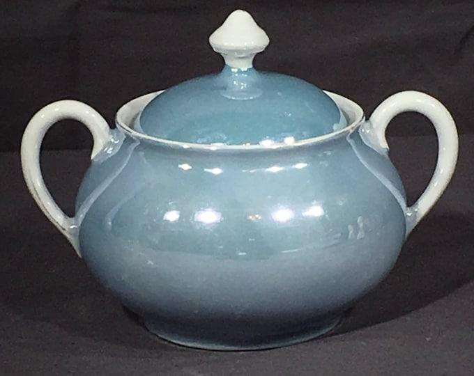 Vintage Wedgwood Sugar Bowl, Germany Blue Lustreware, Decorative Blue Bone China, 590 3 Dinnerware, Fine Dining Bowl, Blue Fin Dish