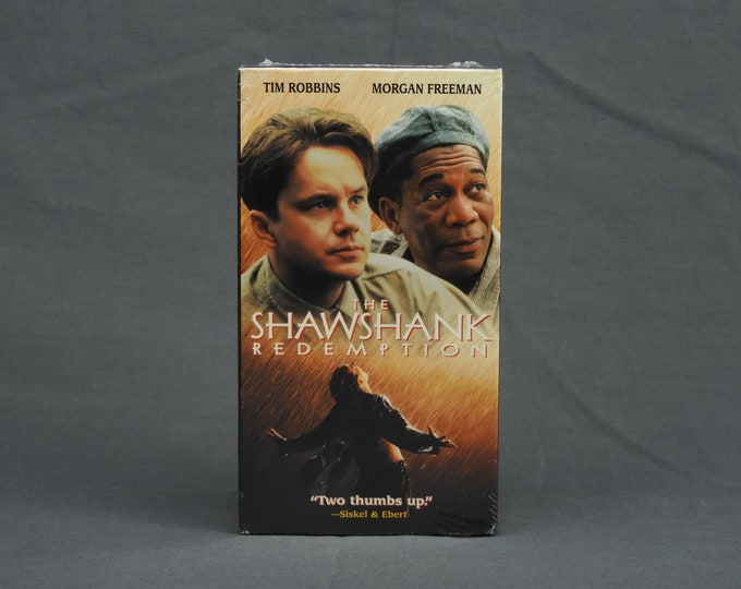 Vintage VHS Movie, Shawshank Redemption, Sealed 74593, Home Entertainment, Prison Drama, Morgan Freeman, Den Decoration