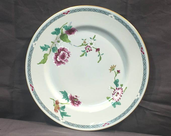 Vintage Gorham Charleston Plate, Decorative Historic Charleston China, Purple White Green Fine China Plate, Town Garden USA Dish
