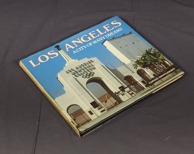 Vintage Los Angeles Book, 1984 City of Many Dreams Book, Decorative Blue & White Book, First English Edition Book, Collectible Picture Book