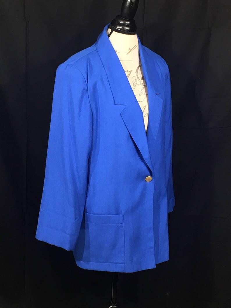 Vintage Sag Harbor Jacket Sz 12 Women's Blue Blazer image 0