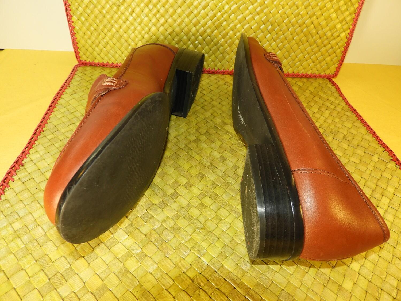 JG Hook shoes mule loafer style burgundy soft leather