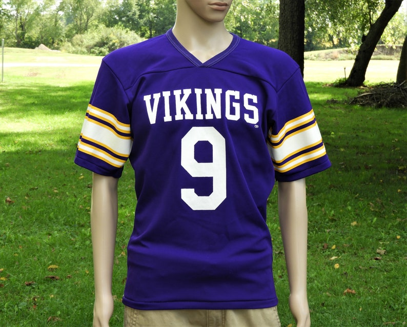 reputable site c1ae7 73dc4 Vintage Vikings Jersey, Purple Rawlings Shirt, Adult Sports Apparel,  Football Souvenir, NFL Officially Licensed Product, Retro Fashion